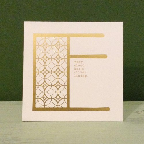 Bronzing letter card envelope sticker set -E