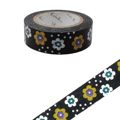 Shinzi Katoh Kato Chisu French Pattern Paper Tape (Nordic Flower 2 KS-MT-10007)
