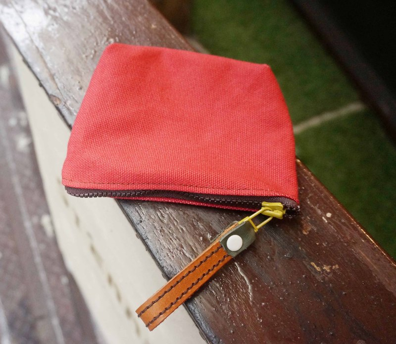 Sienna canvas with leather purse