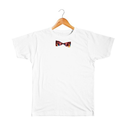 Fake patchwork bow tie kids