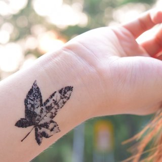 Maple temporary tattoo buy 3 get 1 Floral tattoo party wedding decoration gift