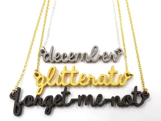 Customized name necklace - three-dimensional printing x tête-à-tête - necklace x Personalized