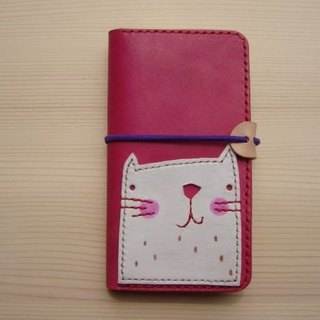 [ISSIS] handmade pink small white clamshell phone Case for Iphone 5