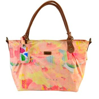 SOLUNA [ SAIMIHO Series ] digital print shoulder bag(Pink)