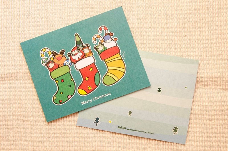 Christmas stockings ● Postcards Christmas cards