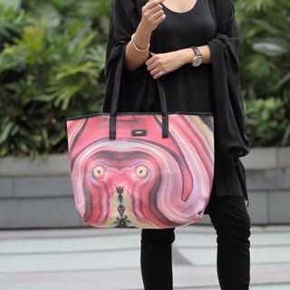 HARD SWIRLS Pink Stone Weekend Tote