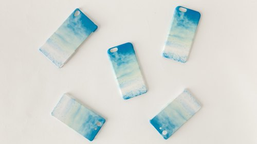 "Orders production] iPhone / Galaxy / Xperia Case ""blue, cloud"""