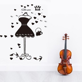 Smart Design creative wall stickers ◆ Seamless fashion queen (large) approximately 130 cm 8 color options