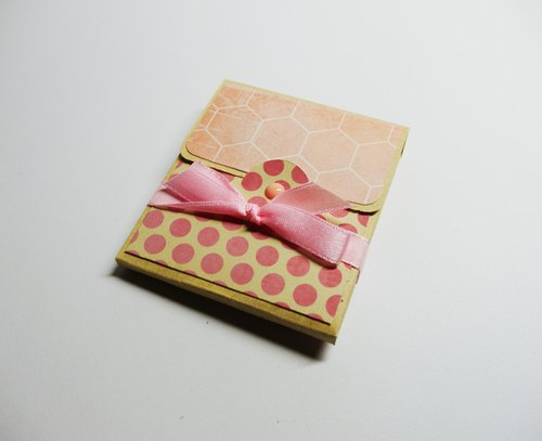 [Yu-crafts handmade cards # 1340000 card _ looking card (Pink)