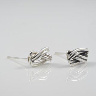 Handmade silver earrings series - black and white