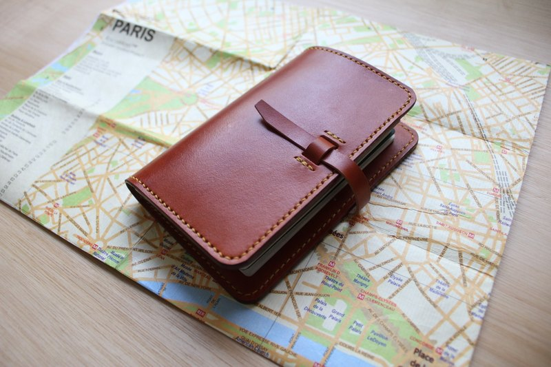 [Mini5] hand-stitched leather passport holder