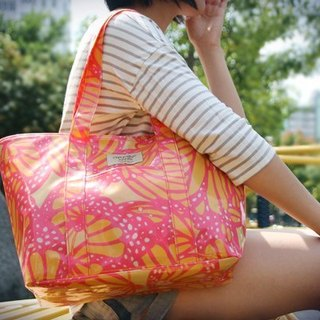 Summer Beach Fun Fun] [Alice side shoulder bag (A4) - Orange Peach