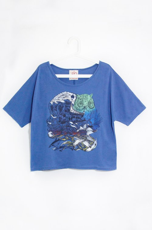 Women feel summer short-travel T - to Lanyu, travel (blue)!