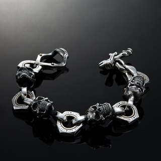 Let's Ride | Movable Piston skull Bracelet XXL | Full movable piston large skull bracelet