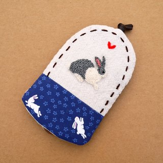 Rabbit embroidery Wallets