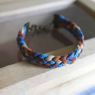 hand made bracelet-- korean synthetic leather【squirrel's walnut】