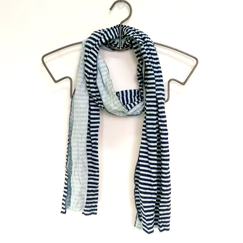 Cotton double knit fabric scarves