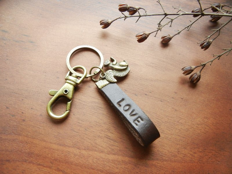 * Coucoubird * cute leather key ring