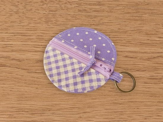 [Miya ko. Grocery cloth hand-made] plaid / headphone bag / purse / key ring / Wallets