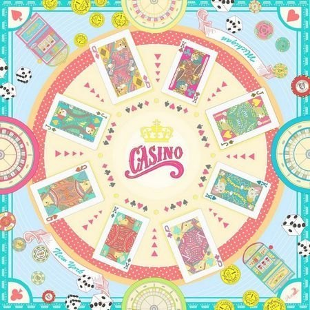 Asama designer scarf / Dicey Casino Royale (peppermint powder)