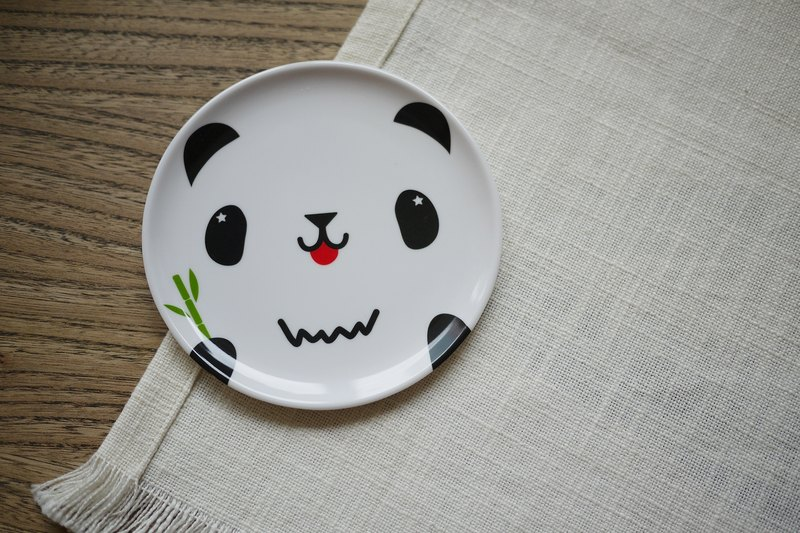 mixmania pudgy panda with black and white multifunction Coaster small cap / snack tray