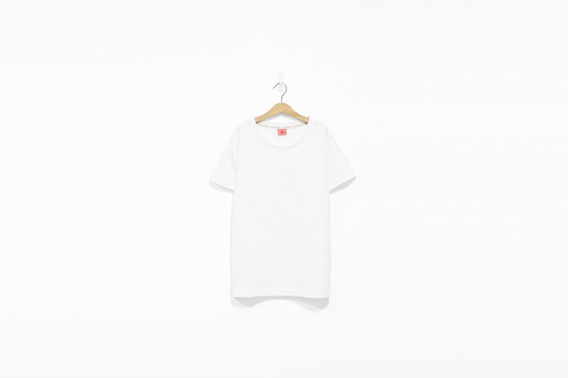 White thick plain noodle Tee - S has been sold out