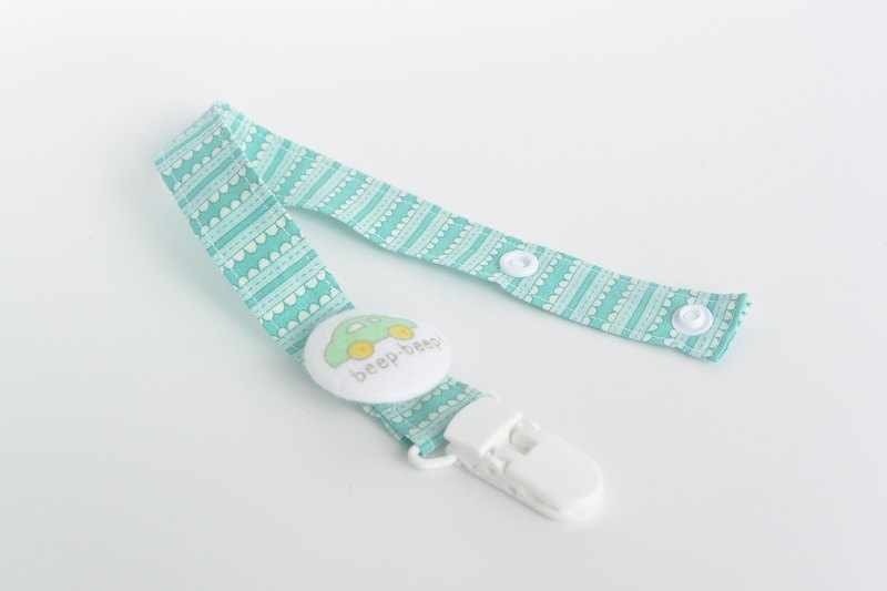 Cloth deduction feel pacifier chain - Beetle