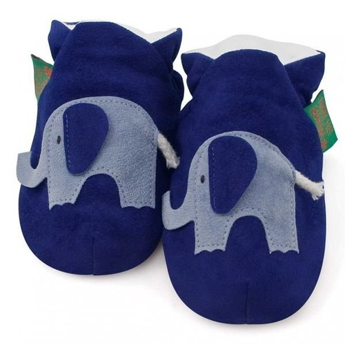 ★ ★ custom handmade shoes FunkyFeet Fashions [British] blue elephant toddler shoes 0-24M (NT $ 1750) / 2-7Y (NT $ 1950)