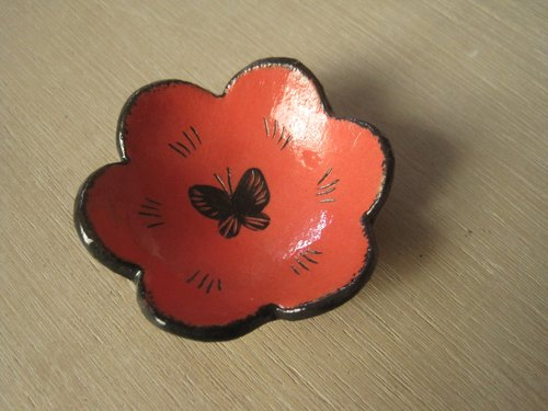 DoDo hand-made private message Animal Silhouettes Series - Butterfly admiral (bright red)