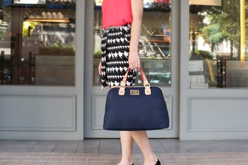 [Time Traveler] iPad portable shoulder bag _ Midnight Blue Ladies