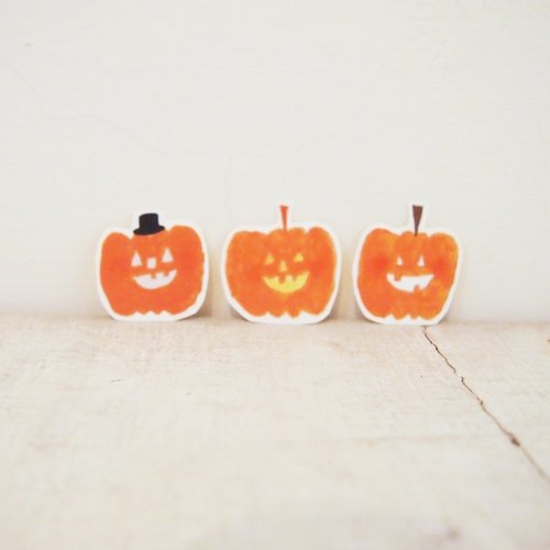 ✡ pumpkin Mr. / matte stickers (a group of three)