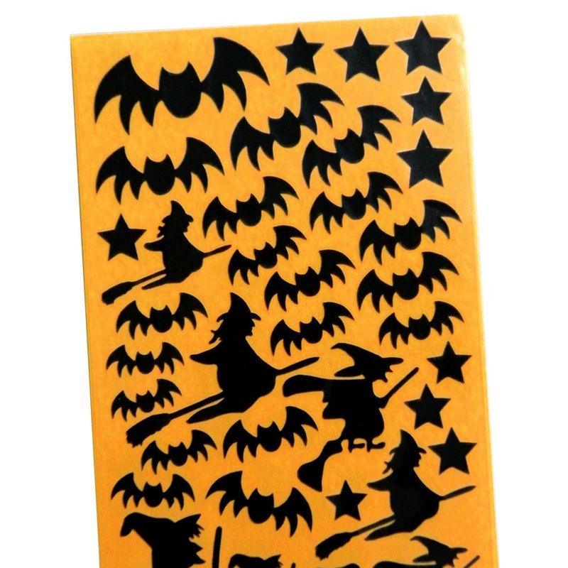 Witch and Bat Stickers