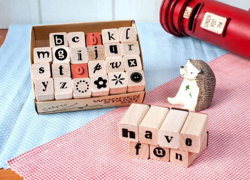 English alphabet stamp set -11
