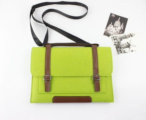 "Original handmade green blankets Apple computer protective cover blankets Macbook 12 inch laptop bag computer bag Macbook 12 ""(can be tailored) - ZMY081GR12A"