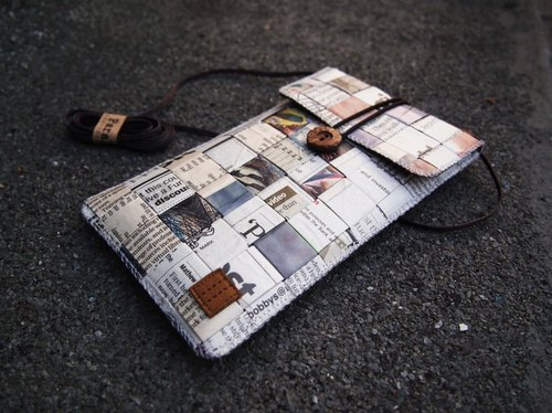 Paralife Custom Size Newspaper Baguette / Cross Body Bag / Phone Pouch Purse Sleeve Samsung Galaxy S5 Note 3 Sony Xperia Z2 T2 Ultra HTC M8
