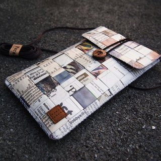 Paralife Custom Size Newspaper Baguette / Cross Body Bag / Phone Pouch