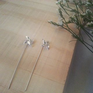 Wind Power Silver Earrings