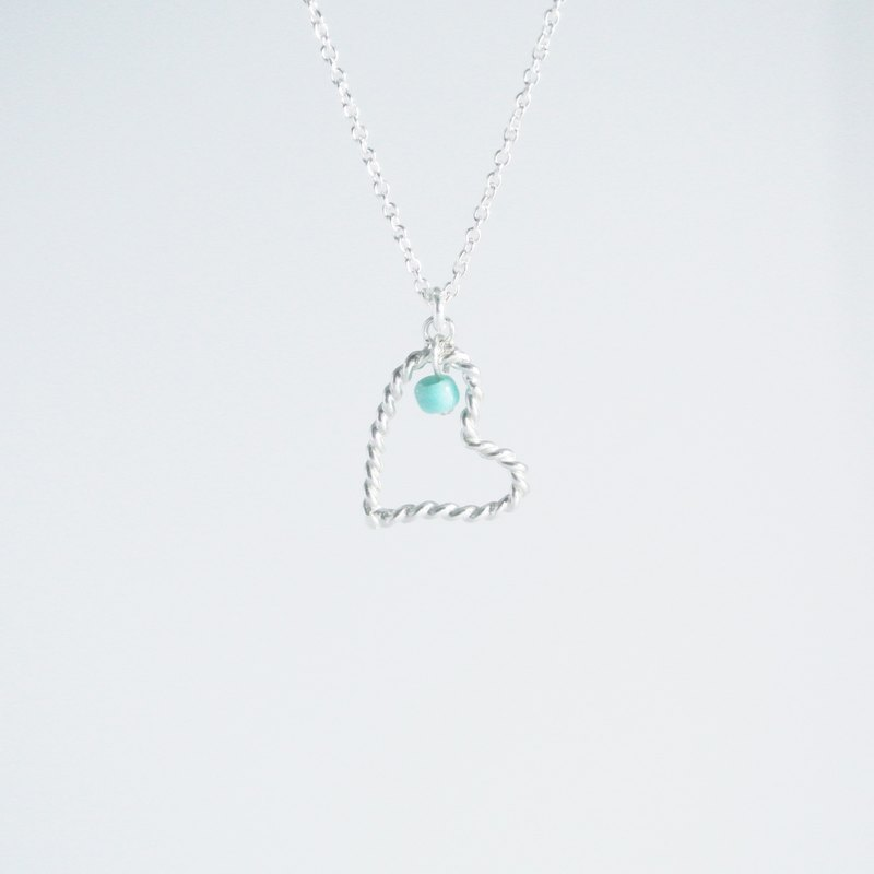 [Christmas (exchange gifts)] wound love (in) sterling silver necklace