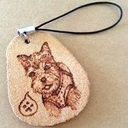 / Guests designated goods / hand-painted leather branded burn animal tag