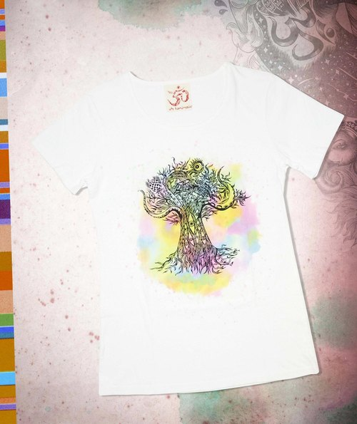 Great colorful watercolor feel mad Thailand travel T- tree (watercolor)