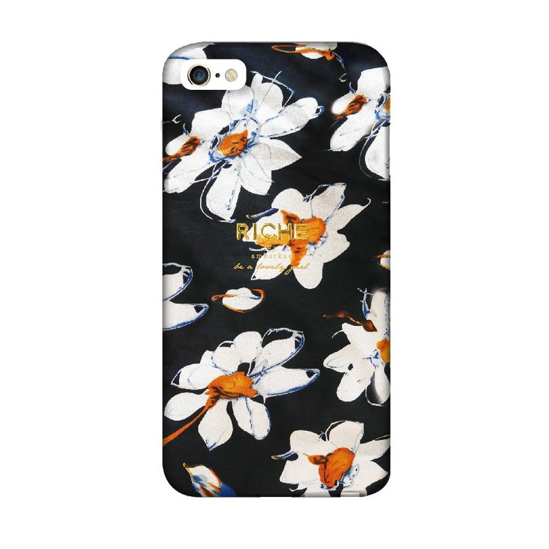 Black flower iPhone6/6plus+/5/5s/note3/note4 Phonecase