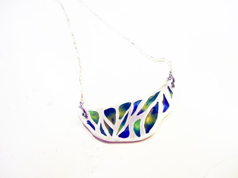 Chrysalis Necklace green enamel necklace pupa