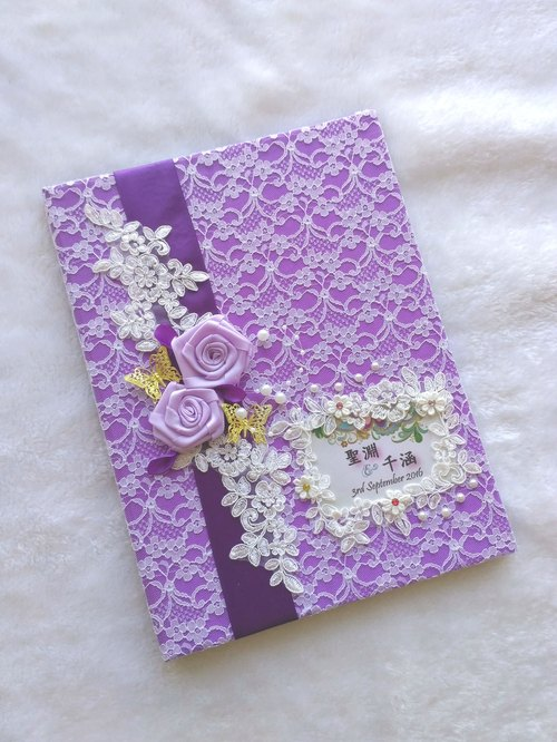 Marriage certificate folder marriage book folder - Purple Department 2