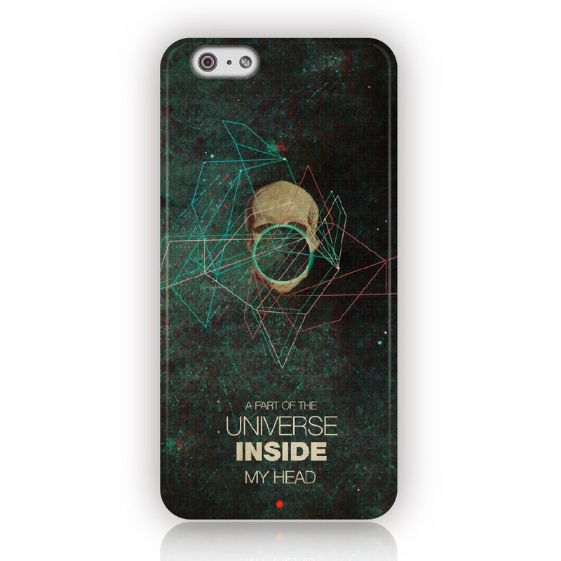 ▷Umade◀  A Part of The Universe Inside My Head 【iPhone7 (i7,i7plus,i6,i6s,i6plus,i6splus,i5se,i5s,i5c,)/Android(Samsung三星, HTC, Sony)手機殼/配件- 霧面硬殼-藝術家創作】Frank Moth