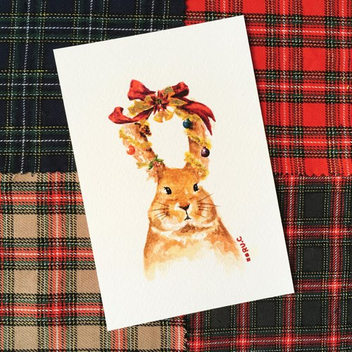 Christmas Card ★ Rabbit