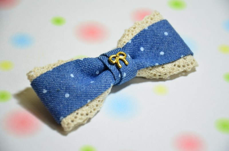Little cowboy lace bow