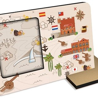 Taiwan Series ~ treasure map ~ 30 seconds sound and light recording card repeatable recording photo frame photos attractions with hands