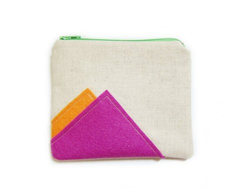 Zipper bag / purse / mobile phone sets geometry 102