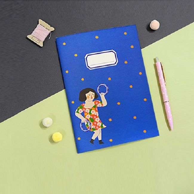 Heartbeat moment stripe notebook-04 dance girl, JSD78957
