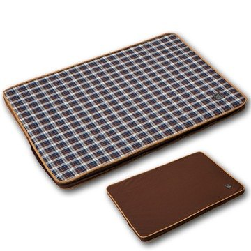 """Lifeapp"" Pet pressure relief mattress L (brown plaid) suitable for large dogs, long-term care, elderly dogs W110 x D70 x H5cm"
